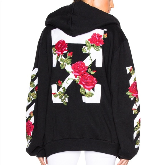 2e726a015eda OFF-WHITE EMBROIDERED ROSES HOODIE. M 5a8e5b5d9d20f0b01104e35d. Other  Jackets   Coats ...